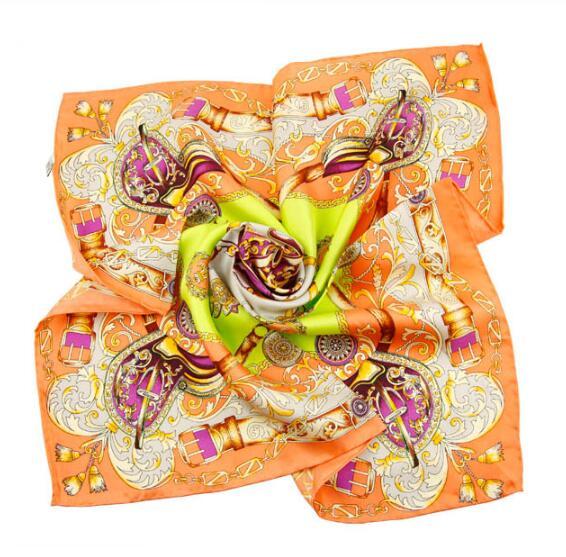 New Woman Silk handkerchief 50*50CM Pocket square Woman Hankie Cravat