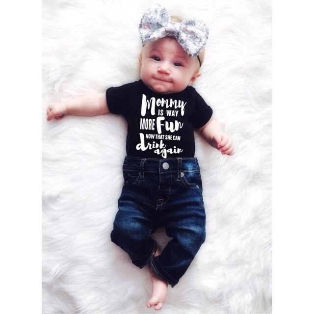 DERMSPE Summer 2019 Toddler Baby Girls Boys Romper With short sleeves Letter printed Jumpsuit Outfits Sunsuit Clothes Playsuit 4