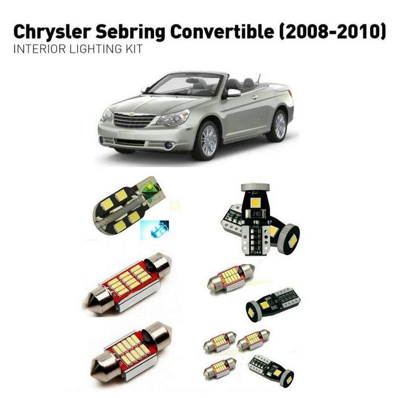Led interior lights For Chrysler sebring convertible 2008-2010 7pc Led Lights For Cars lighting kit automotive bulbs Canbus