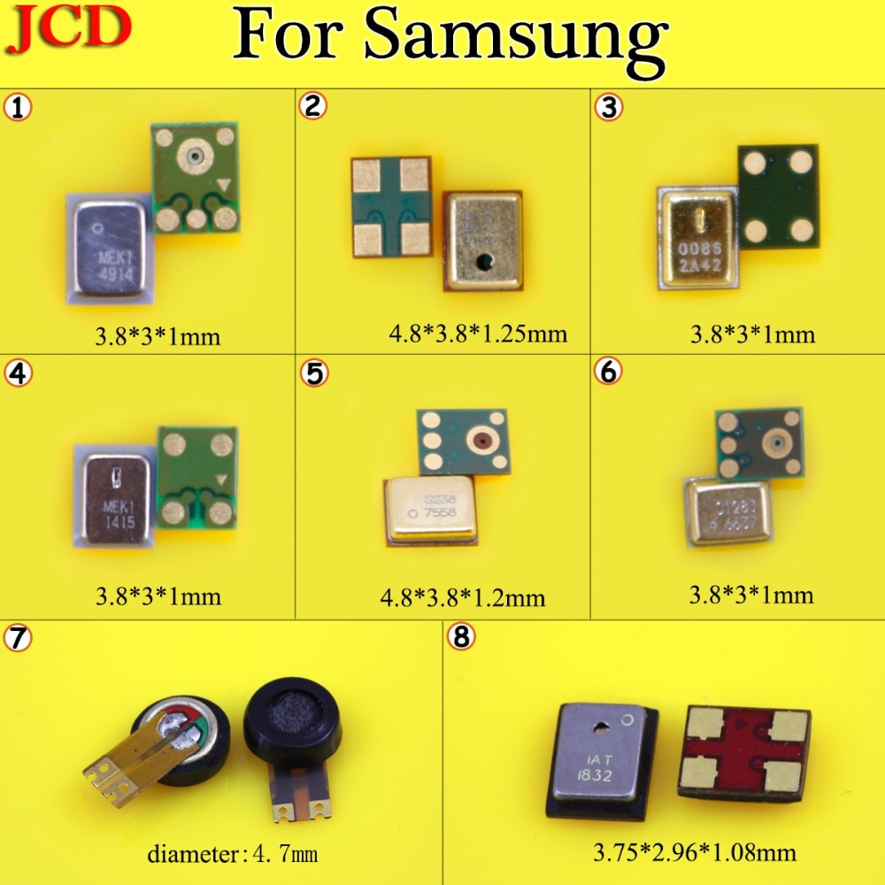 JCD para Samsung Galaxy J5 J500 J500H G530 G530H receptor de micrófono para Samsung S3 i9300 i747 T999 D710 nota 2 N7100 nota 2