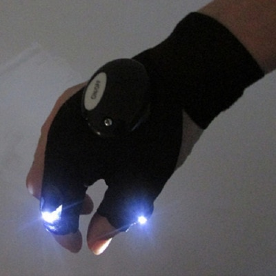 1 Uds., luz LED, guantes intermitentes para iluminación de dedo, para exteriores, trabajo de reparación de electricistas