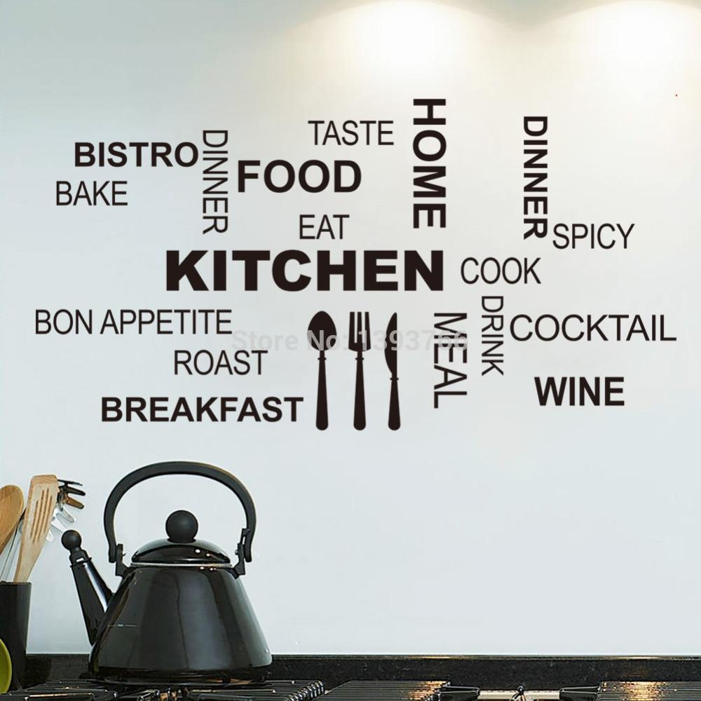 Vinilo pared arte pared cita pegatina cocina y comedor decoración extraíble Mural calcomanías