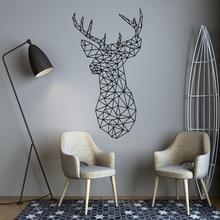 Stickers muraux de décoration Sika cerf   Autocollant artistique, géométrie artistique, décoration pour salon bureau