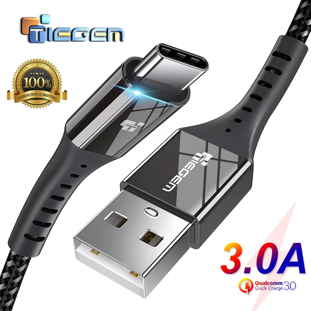 usb cables for iphone type c micro usb for samsung s9 s8 usb c multi function key chain portable charging sync data cord charger TIEGEM USB Type C Cable USB-C 3A Fast Charging Type-C Cable Sync Data Cable for Samsung S8 S9 S10 Xiaomi mi9 note 7 8 9 cord
