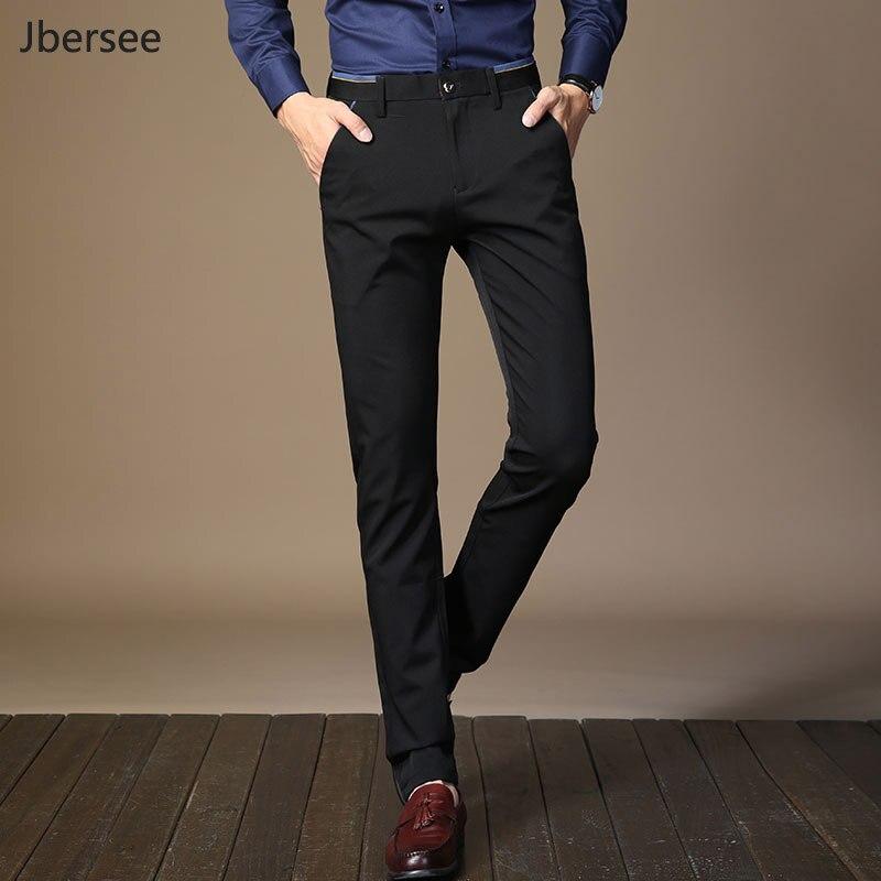 Pantalones de vestir de lujo a la moda para hombre, pantalones de vestir para hombre, pantalones formales de Perfume, pantalones de negocios clásicos, pantalones negros de Otoño Invierno para hombre