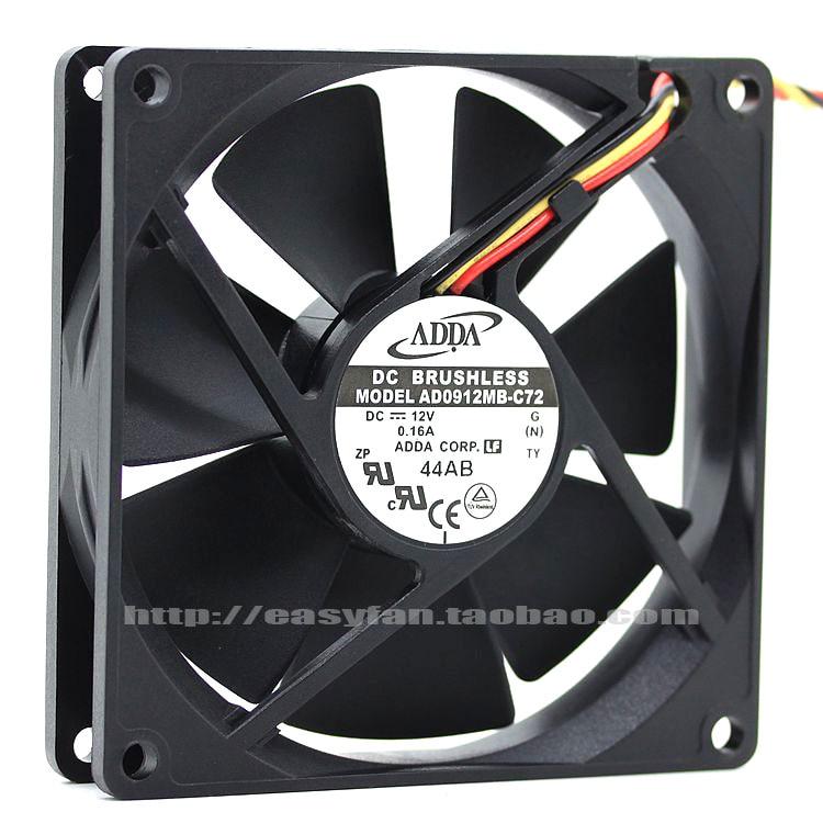 Nuevo ADDA AD0912MB-C72 doble rodamiento de bolas 12 V 0.16A 9 CM 9020 ventilador de refrigeración