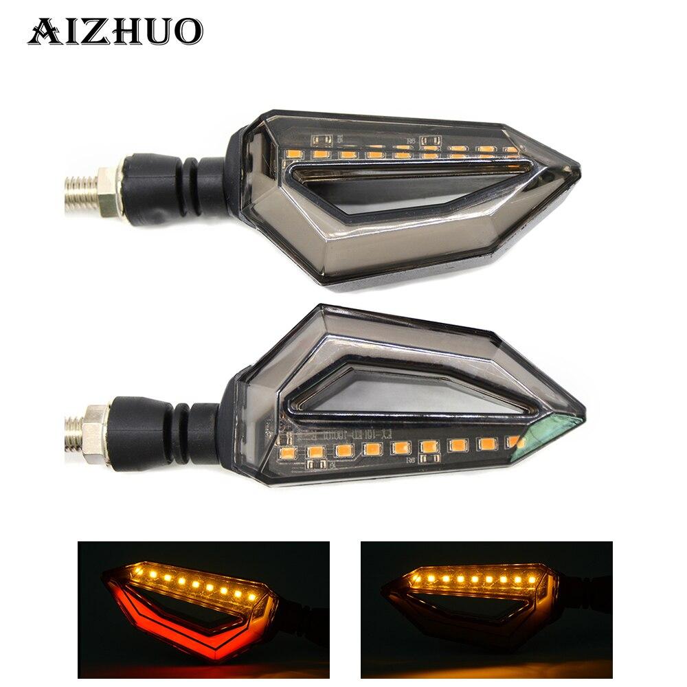 Indicadores de luz de giro Universal para motocicleta luces LED ámbar para MOTO GUZZI ELDORADO MGX21 NORGE 1200/GT8V STELVIO