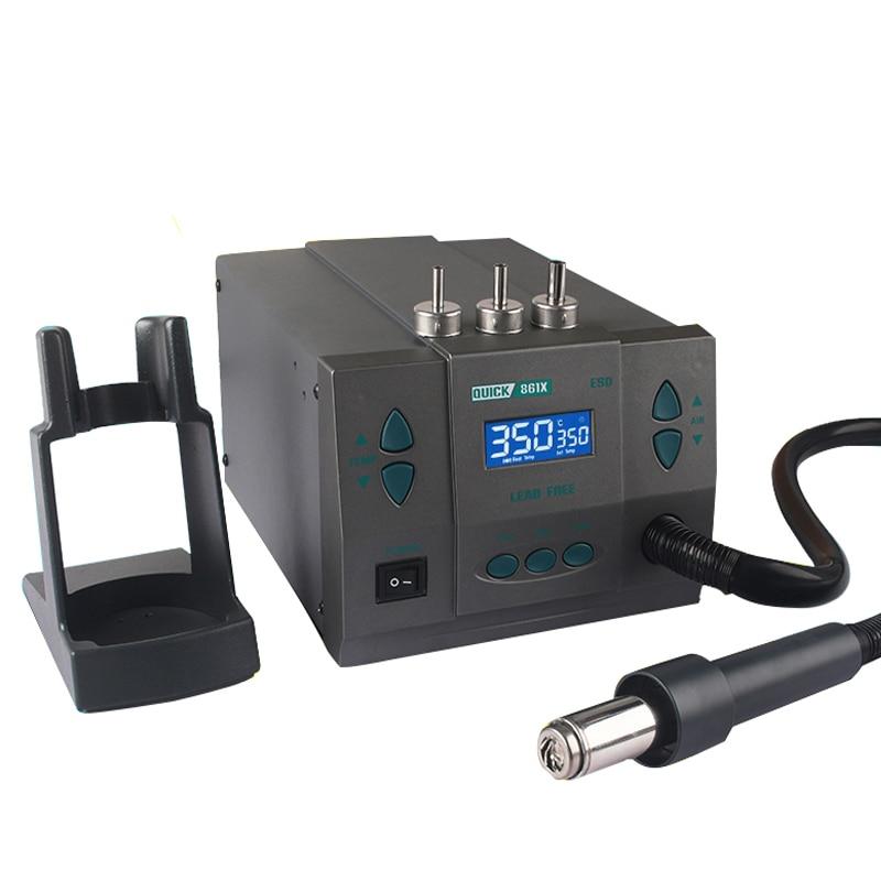 Quick 861X Intelligent Digital Display 1300W High Power Heat Gun Rework Hot Air Gun Desoldering Station Soldering Station