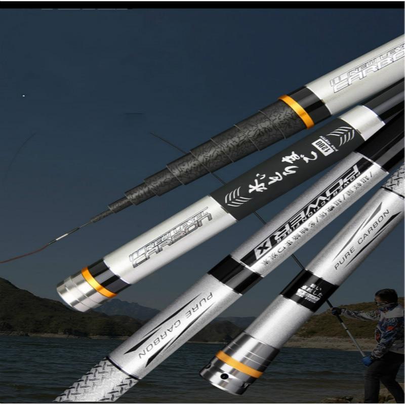 8m 9m Taiwan Fishing Pole Lightweight Ultra Hard Fishing Rod Locational Canne Portable Telescopic Pesca Olta Fishing Equipment enlarge