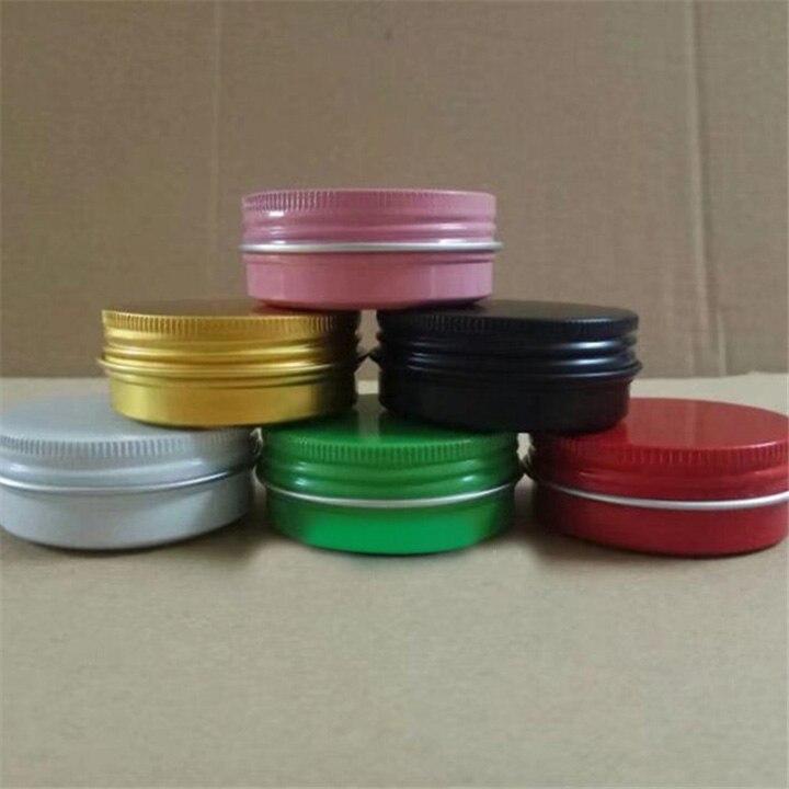 30 ml/g 30pcs50pcs100pcs/rosa/Verde/rojo/Blanco/Negro/oro de aluminio cosméticos crema tarro contenedores de embalaje de máscara cosmética de Metal DIY