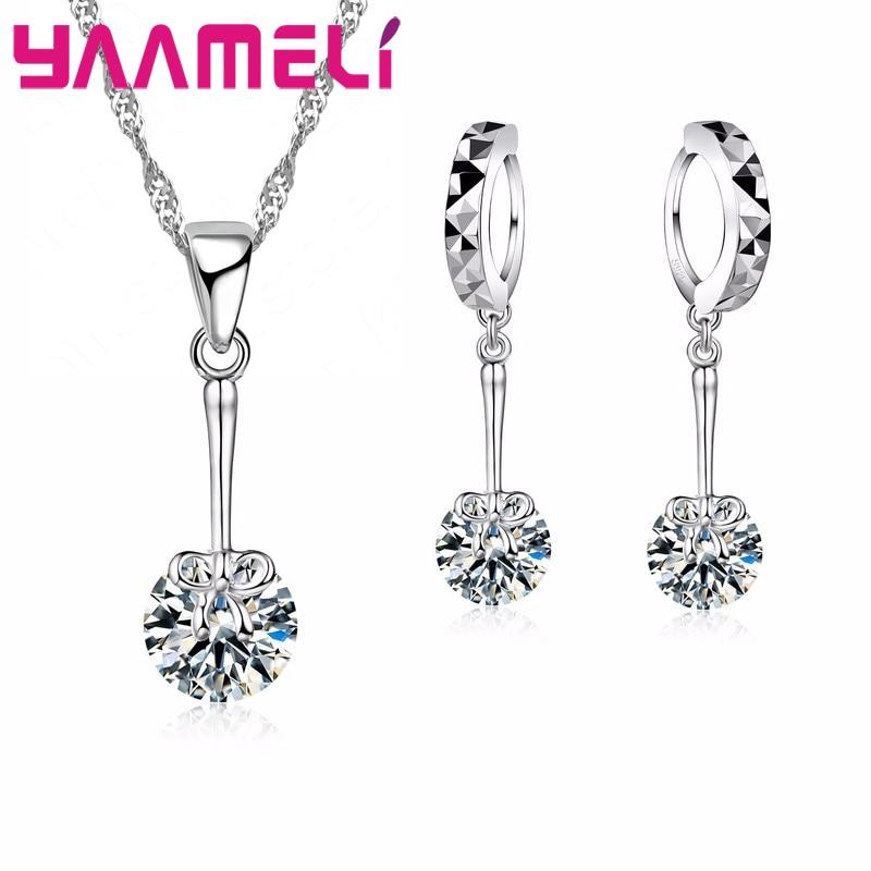 Классический-ювелирный-набор-для-леди-красивое-свадебное-Ювелирное-Украшение-подвеска-ожерелье-серьги-кольца-прозрачный-камень-акция