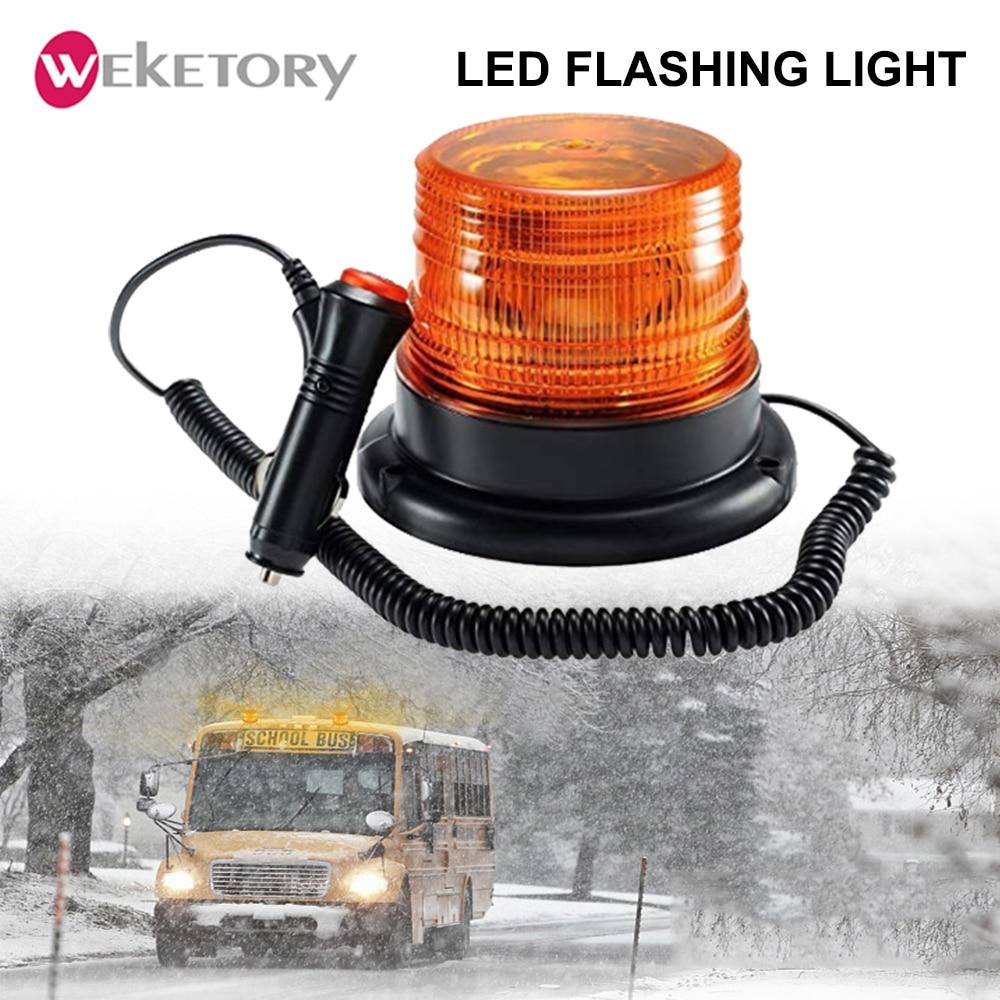 Luz LED estroboscópica para techo de coche o camión, luz de advertencia para policía o bombero, lámpara de señal de emergencia ámbar, Faro de 12/24V, luz indicador intermitente