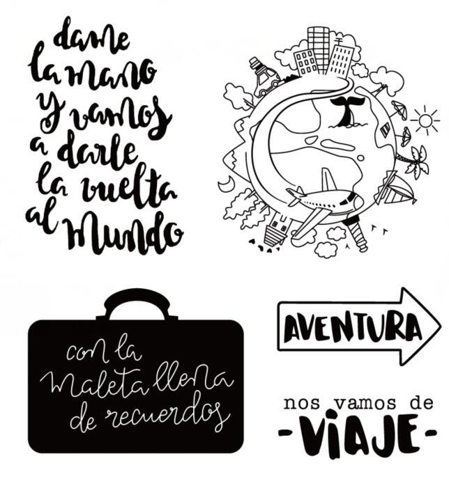 Испанское слово прозрачный силиконовый штамп/печать для DIY скрапбукинга/фотоальбома декоративные прозрачные штамп листы A570