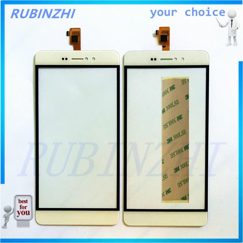 RUBINZHI Digitalizador de pantalla táctil de teléfono móvil para bluboo picasso Panel Sensor de pantalla táctil vidrio frontal de repuesto + cinta