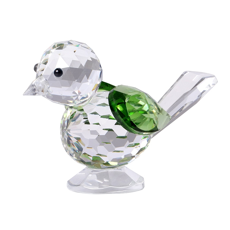 1 pcs K9 Crystal Birds  Miniature Figurine Handmade Crystal Craft Glass Ornament Home Decor Birthday Gift Decoration Accessories
