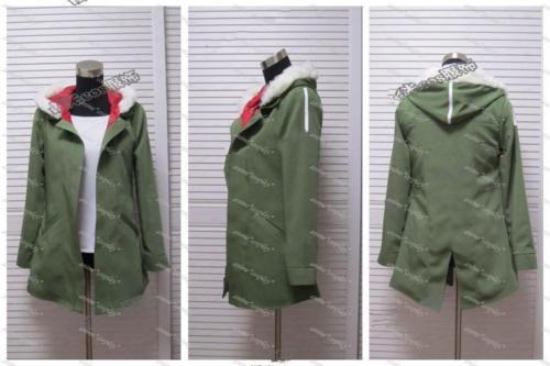 Noragami anime Yukine verde oliva chaqueta con capucha Cosplay traje unisex nuevo A016