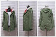 노라 가미 유코네 올리브 그린 후드 자켓 코스프레 유니섹스 의상 신품 a016
