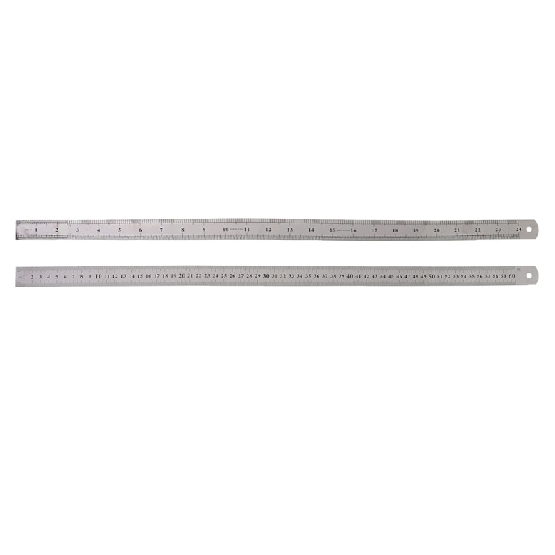 60cm Ruler Stainless Steel Double Side Measuring Straight Edge Ruler Silver Drafting Supplies Dropshipping
