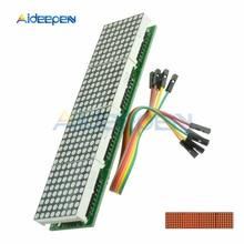 MAX7219 LED Mikrocontroller 4 In 1 Display Mit 5P Linie Dot Matrix Control Module für Arduino Rot Display