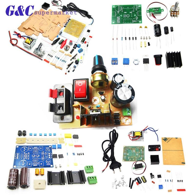 DIY Kit LM317 ajustable voltaje regulado fuente de alimentación Tarjeta de módulo PCB kits electrónicos
