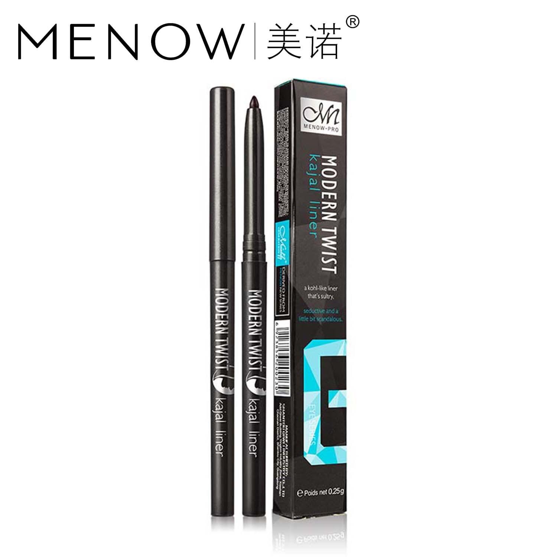 Marca de maquillaje Menow delineador de ojos rápido/secado rápido trenzado Natural Kajal lápiz de larga duración fácil de usar delineador de ojos cosmético P201 MN