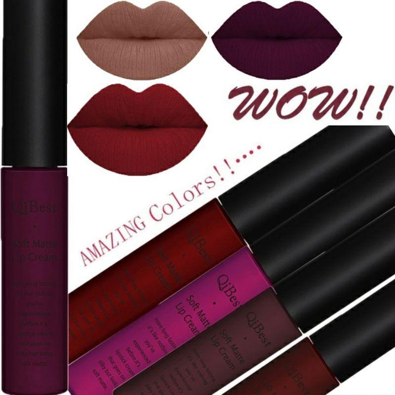 2Pcs/Set 34 Color Matte Long Lasting Lipsticks Sexy Make Lip-gloss Professional Makeup Kits for Women Liquid Lipstick Set