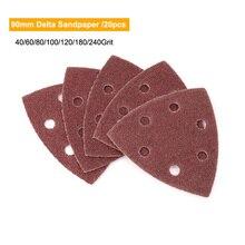 20 adet kendinden yapışkanlı zımpara üçgen Delta zımpara kum kağıt kanca döngü zımpara diski aşındırıcı aletler parlatma Grit 40-240