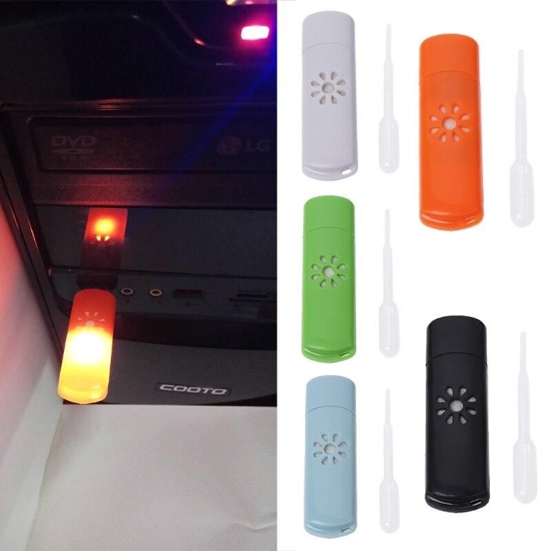 Free_on Mini USB aromaterapia para coche humidificador difusor de aroma aceite esencial fresco nuevo para el hogar aire acondicionado