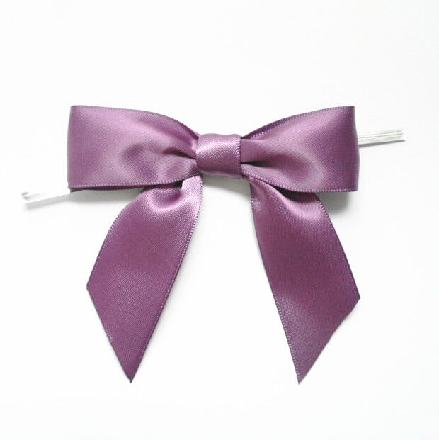 Free Shipping 300pcs Antique Mauve Decorative Polyester Satin Ribbon Bows Ties