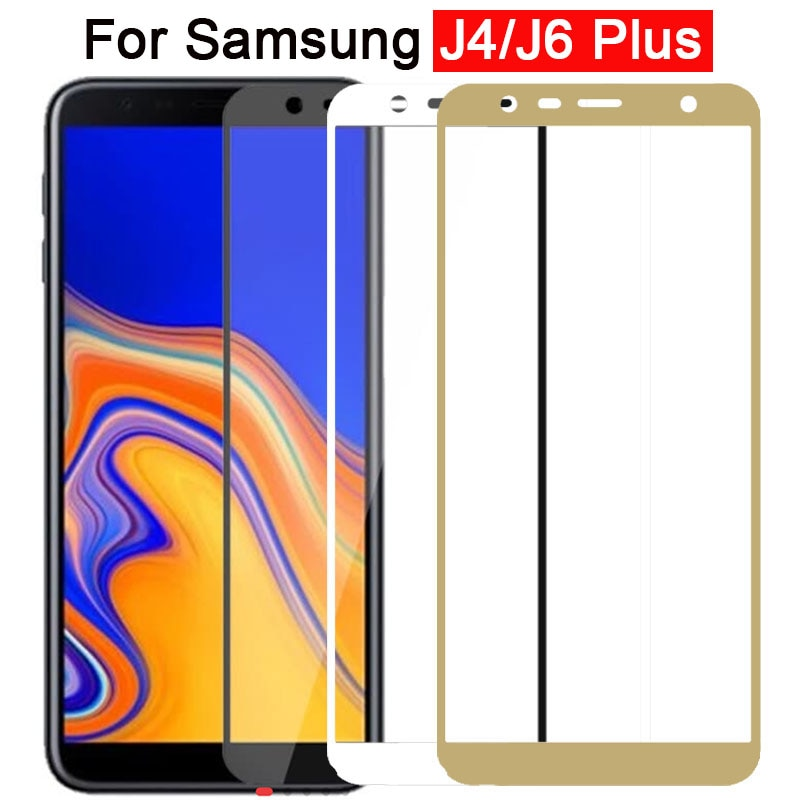 Vidrio Protector para Samsung j6 J4 Plus Protector de pantalla Galaxy j6plus j4plus vidrio templado Samsun galax Galxy seguridad 9h