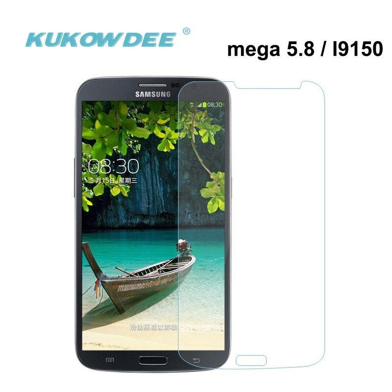 KUKOWDEE 2piece Screen Protector For Samsung I9150 i9152 i9158 Mega 5.8 Tempered Glass Film