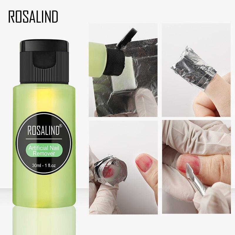 ROSALIND, 1 pieza, removedor de Gel de uñas, exceso de adhesivo, removedor de esmalte de uñas adhesivo, arte de uñas, mejora, removedor de Gel acrílico UV
