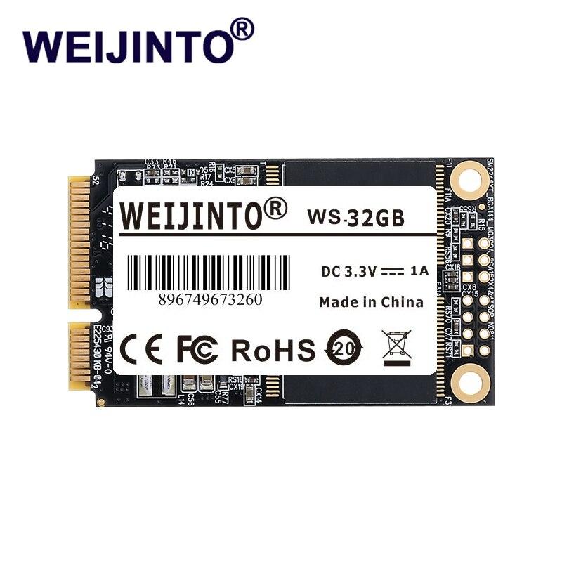 WEIJINTO mSATA SSD Внутренний SATA 8 ГБ 16 ГБ 32 ГБ 64 Гб флэш-накопитель Внутренний твердотельный накопитель Msata 32 Гб