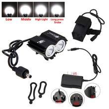 SolarStorm 6000LM 2x T6 LED avant vélo lampe vélo phare avec 18650 batterie et chargeur