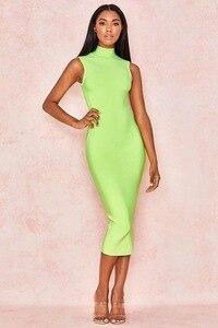 2019 New Women Turtleneck Knee-Length vestidos dress Bodycon bandage dress Celebrity evening dropshipping