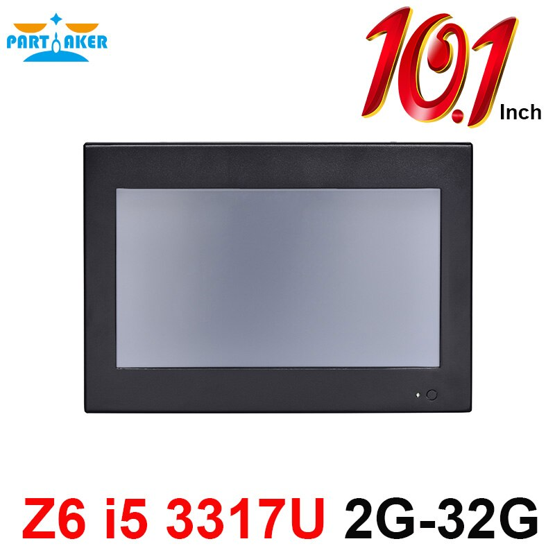 Partaker Z6 10.1 Inch Made-In-China 4 Wire Resistive Touch Screen Intel Core i5 3317U OEM All In One Pc 2G RAM 32G SSD