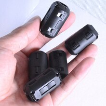 New 5pcs Black Plastic Clip On EMI RFI Noise Suppressor 5mm Cable Ferrite Core Filters Removable
