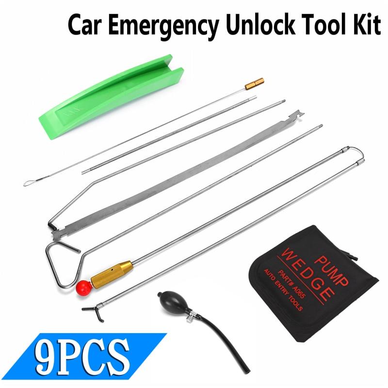 Universal Car Door Key Lost Lock Out Emergency Open Unlock Tool Air Pump Kit