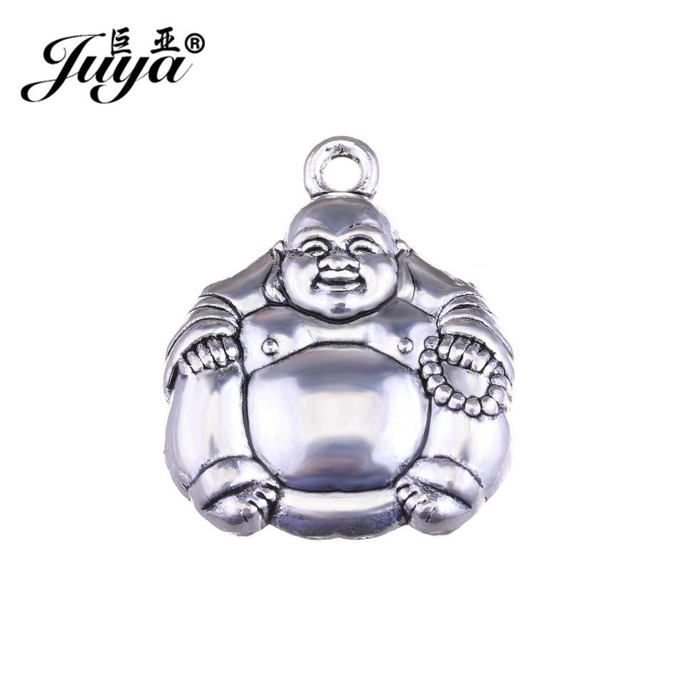 Colgantes JUYA para pulsera, accesorios para hacer collares, 26x22mm, 2 unids/lote, proveedores de colgantes Maitreya Buddha AO0612