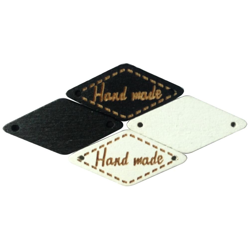 Botones 20 piezas de madera hechos a mano para ropa, etiquetas hechas a mano, etiquetas de botón de madera para trabajos manuales, etiquetas de madera para bolsos