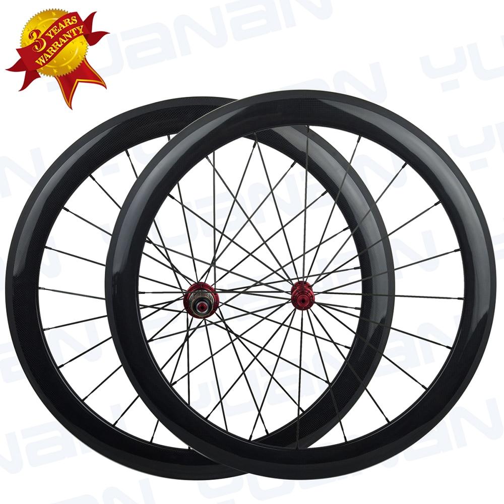 Yuan An front & rear 50*25mm width carbon clincher wheelset carbon wheels carbon triathlon bicycles carbon wheels