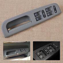 DWCX Car Interior Grey Window Master Switch + Panel Bezel + Handle Trim 1J4 959857 for VW Bora Passat Jetta 3B0867175 3B1867171E