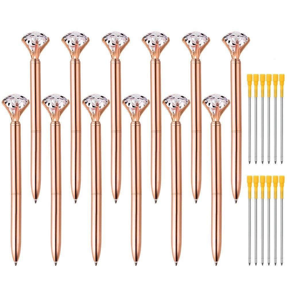 Mini Bolígrafo De Metal con diamantes de Cristal, bolígrafo Delgado giratorio de...