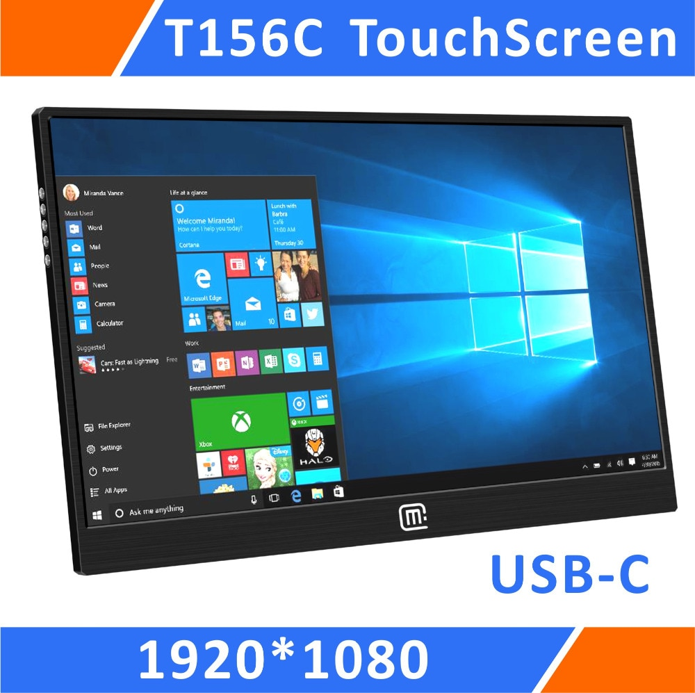 15.6 Inch Super Slim Multi-Touch USB Portable Monitor For PS3 PS4 PRO Xbox360 With Vesa Mount Resreved For PC Laptop(T156C)