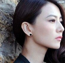 YUNRUO titane acier couleur or Rose classique Couple noir Stud boucle doreille bijoux femme accessoires de mode livraison gratuite 334