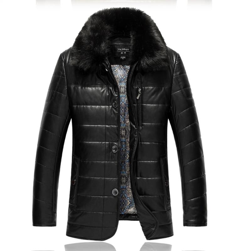 XL-7XL chaqueta De piel De invierno 8XL 9XL para hombre, abrigo cálido De piel sintética para hombre De talla grande