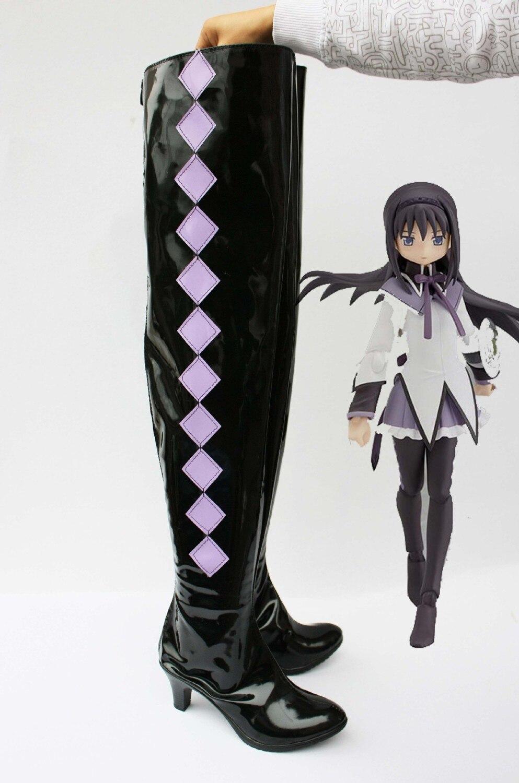 Custom made Homura Akemi Shoes from Puella Magi Madoka Magica Cosplay