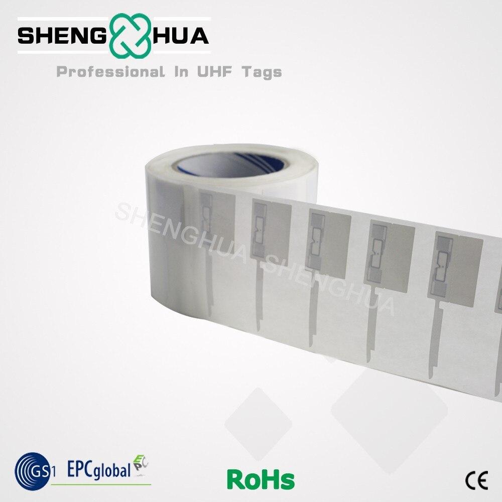 10 uds/rollo ISO 18000-6C RFID de lectura UHF etiqueta pasiva identificación única Anti-robo Etiqueta de joyería