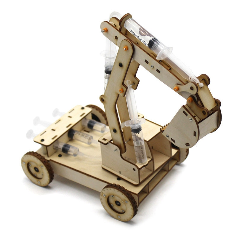 AliExpress - STEM Toys for Children Educational Science Experiment Technology Toy Set  DIY Hydraulic Excavator Model Puzzle Painted Kids Toys