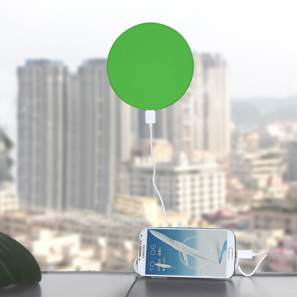 Solar Power Bank 1800/2600/5200mAh Solar USB Charger Car Window Round Sucker Style Phone Charger Portable External battery